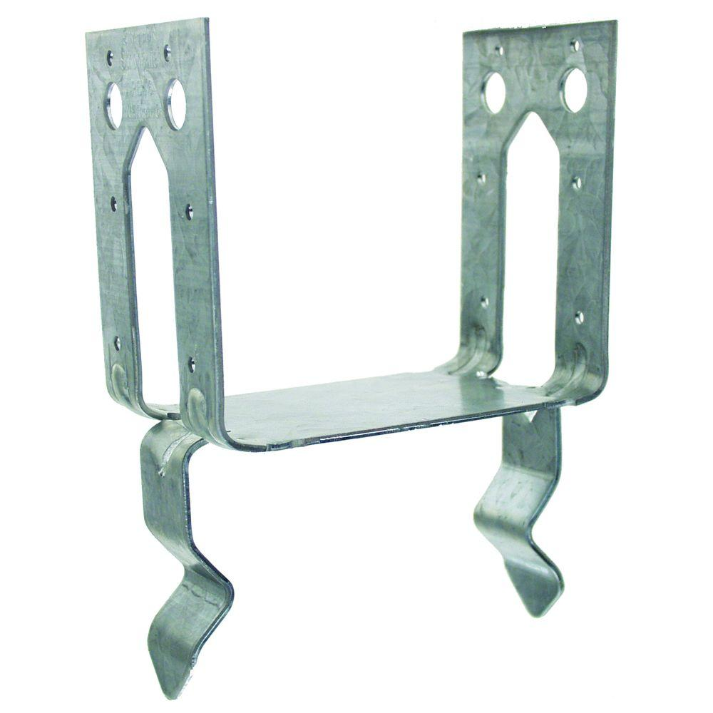 PB 4 in. x 6 in. Galvanized Post Base