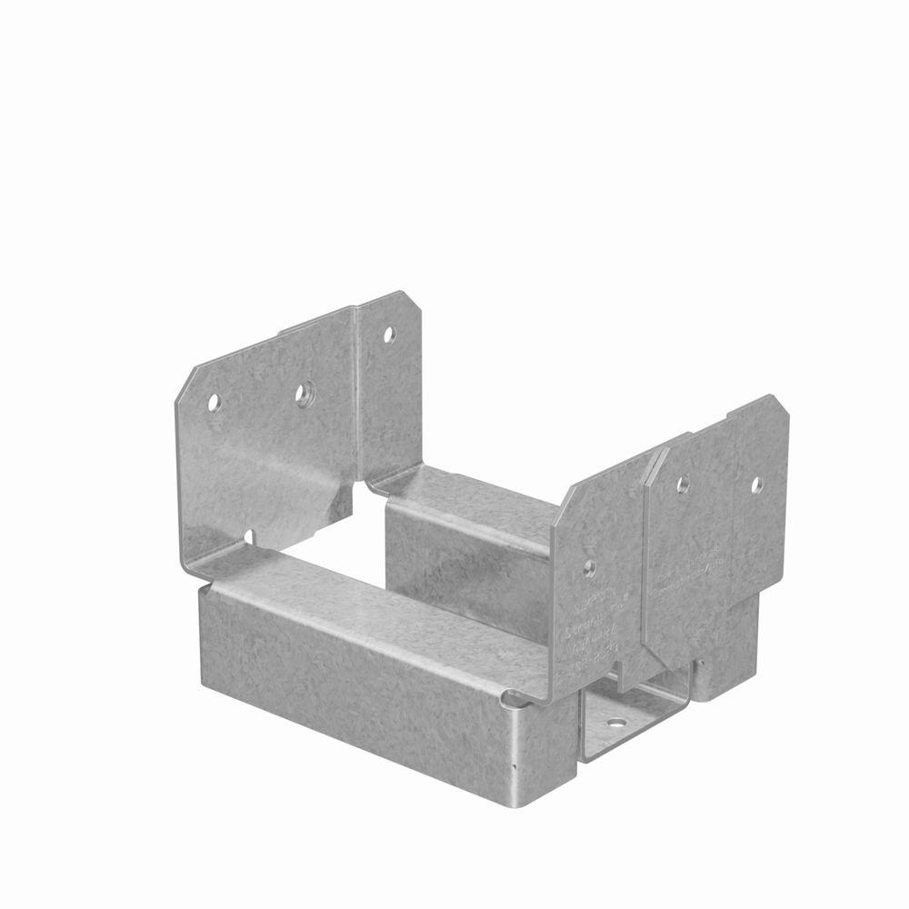 ABA 4 in. x 4 in. Rough ZMAX Galvanized Adjustable Post Base