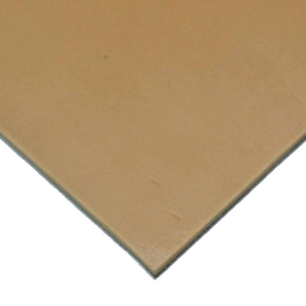 Pure Gum Rubber 3/16 in. x 36 in. x 264 in. Tan Commerical Grade 40A Rubber Sheet