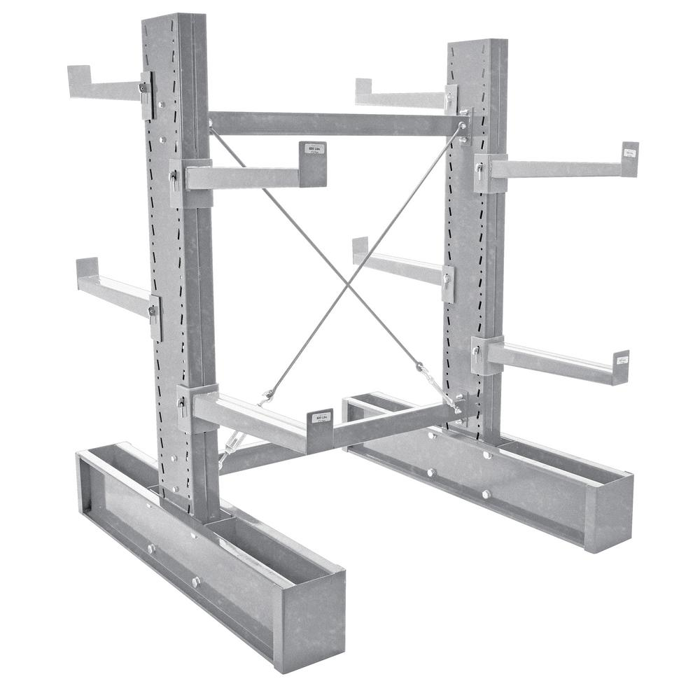 72 in. x 24 in. Galvanized Double Sided Medium Duty Cantilever Starter Unit