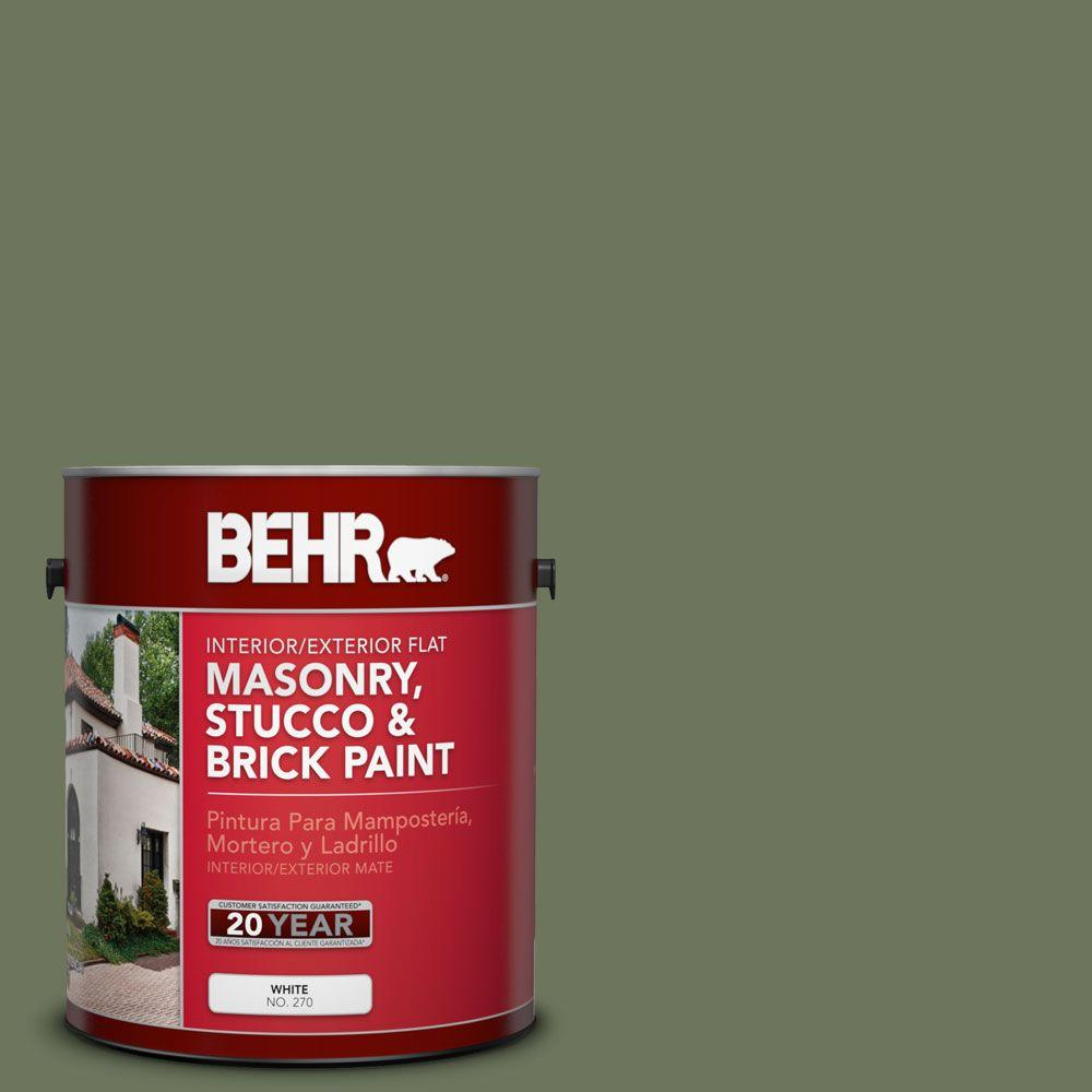 1-gal. #MS-54 Frontier Trail Flat Interior/Exterior Masonry, Stucco and Brick Paint
