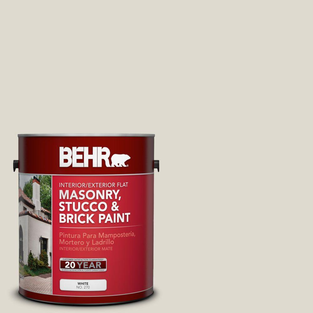 1 gal. #MS-48 Misty Cove Flat Interior/Exterior Masonry, Stucco and Brick Paint