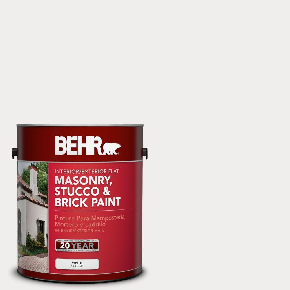 1-gal. #MS-47 Mountain Summit Flat Interior/Exterior Masonry, Stucco and Brick Paint