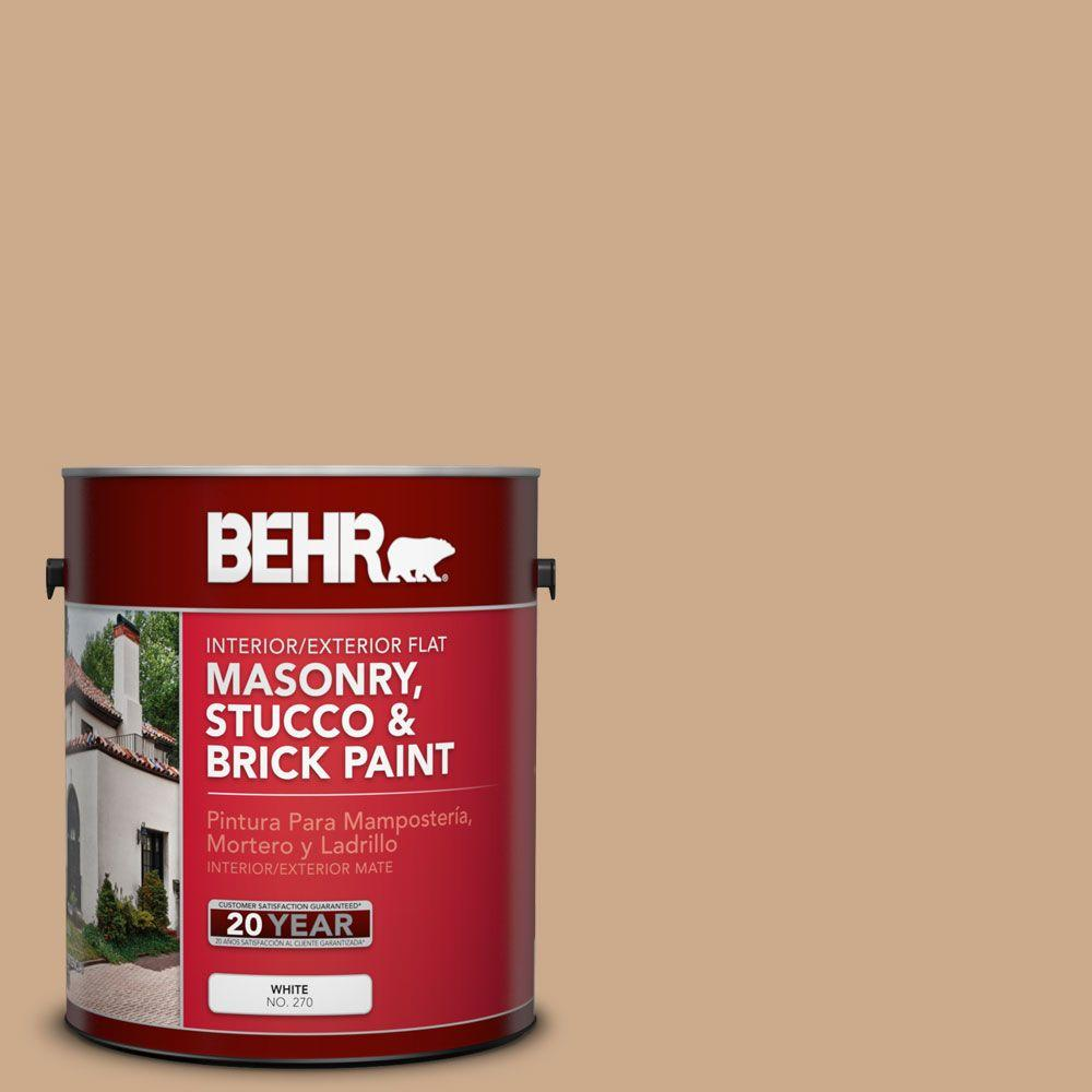 1-gal. #MS-30 Husk Flat Interior/Exterior Masonry, Stucco and Brick Paint