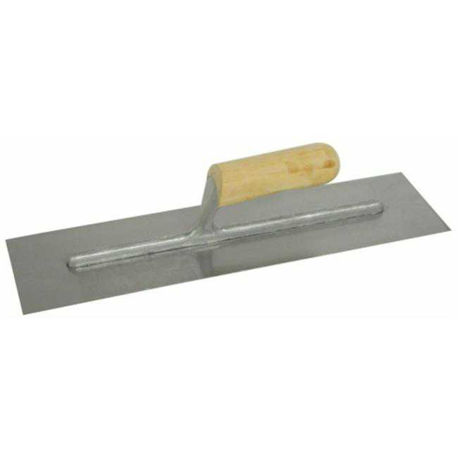 16in. X 4in. Finishing Trowel With Wood Handle