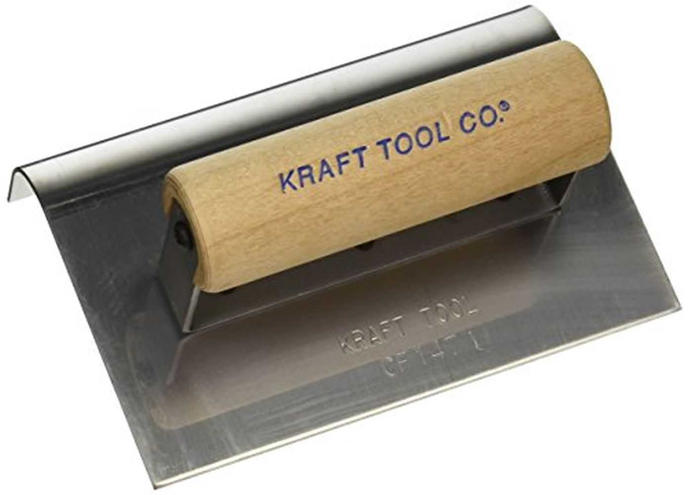 Kraft CF147 3/4' Radius Outside Curb & Sidewalk Tool w/Wood Handle, 6 x 4'