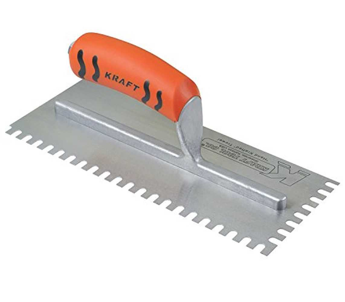Kraft ST420PF U-Notch Trowel w/ProForm Handle