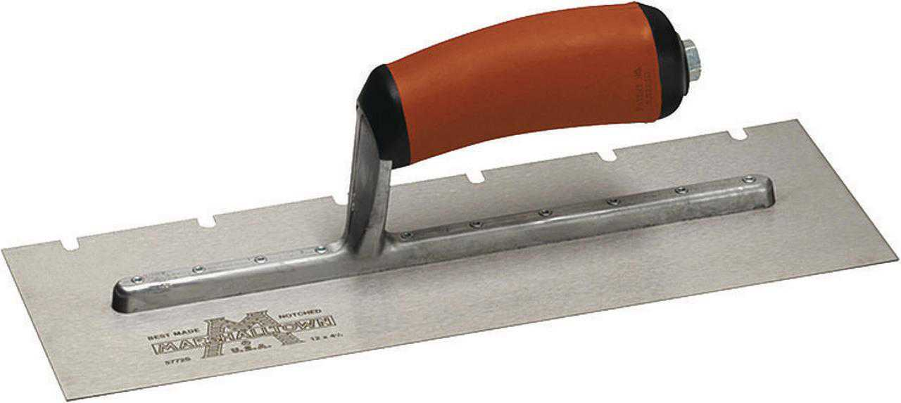 Marshalltown 775SD 11' x 4-1/2' x 1/2' Notched Trowel
